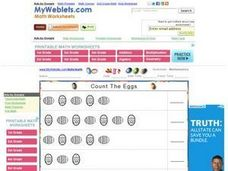 Count The Eggs Worksheet
