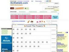 Count the Flowers Worksheet