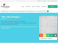 """We, The People..."" Lesson Plan"