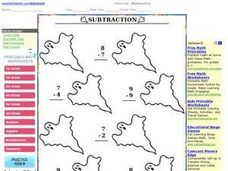 Halloween Subtraction Facts Worksheet