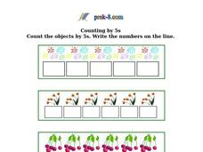 Counting by 5's Worksheet