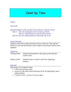 Counting By Tens Lesson Plan