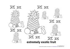 Letter Xx: Extremely Exotic Fruit Worksheet