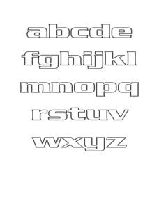Alphabet Letters A-Z Worksheet