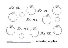Letter Aa: Amazing Apples Worksheet