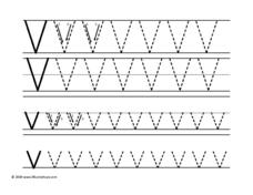 Printing Upper and Lower Case Letter Vv Worksheet