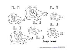 Lazy Lions Worksheet