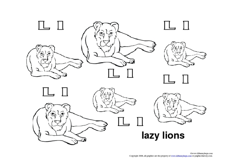 Lion Worksheets For Kindergarten