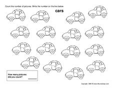 Counting Cars Worksheet
