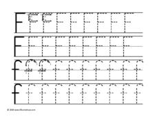 Upper and Lower Case Letter Ff Worksheet