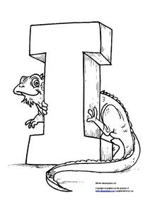 I Is For Iguana Worksheet