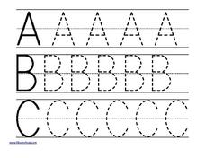 ABC Uppercase Trace Worksheet