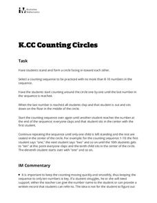 Counting Circles Activities & Project