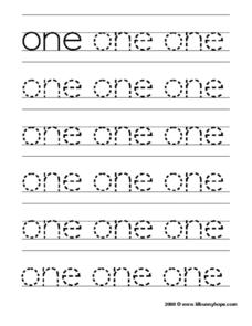 Printing Practice: one Worksheet