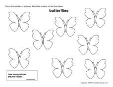 Count the Butterflies (8) Worksheet