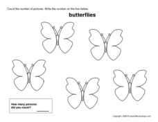 Count the Butterflies (5) Worksheet