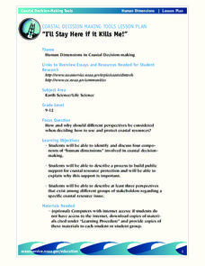 """I'll Stay Here if it Kills Me!"" Lesson Plan"
