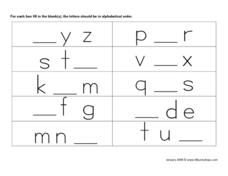Alphabetical Order  2 Worksheet