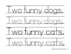 Two Funny Dogs Worksheet
