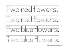 Two Red Flowers Worksheet