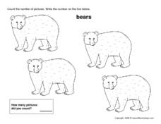 Count the Number of Bears - 4 Worksheet