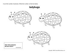 Three Ladybugs Worksheet