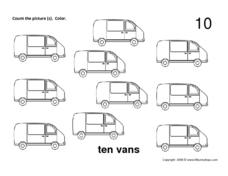 Ten Vans Worksheet