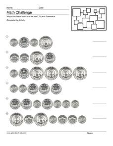 Counting Coins Worksheet