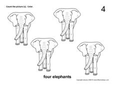 Four Elephants Worksheet