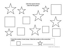 Multi-Step Shape Coloring Worksheet