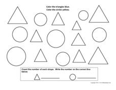 Multi-Shape Coloring Activity Worksheet