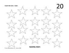 Twenty Stars Worksheet