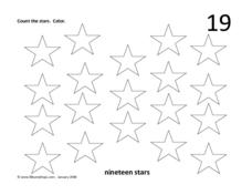 Nineteen Stars Worksheet
