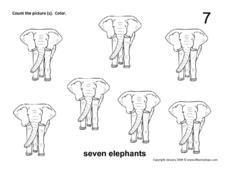 Seven Elephants Worksheet