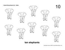 Ten Elephants Worksheet