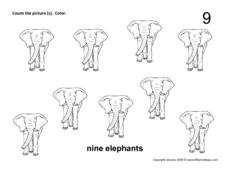 Nine Elephants Worksheet