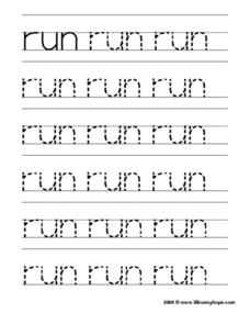 Run Worksheet