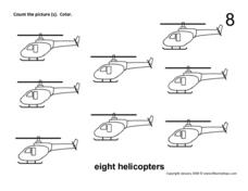 Eight Helicopters Worksheet