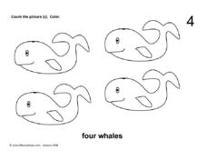 Four Whales Worksheet