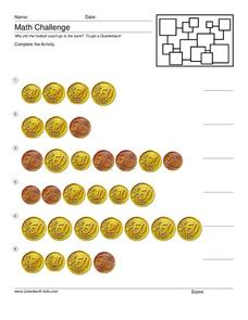 Counting Euro Worksheet