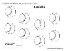 Eight Baseballs Worksheet