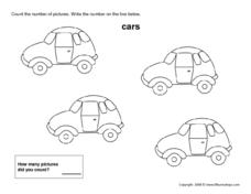 Four Cars Worksheet