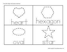 Tracing Shapes and Their Names Worksheet