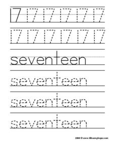 17: Seventeen Worksheet