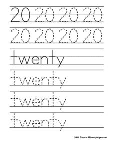 20: Twenty Worksheet