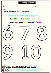 Counting Exercise Lesson Plan