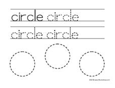 Print and Trace: Circle Worksheet