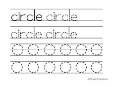 "Print Word: ""circle"" Worksheet"