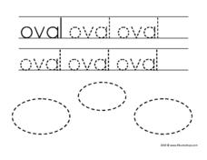"Print Word: ""oval"" Worksheet"
