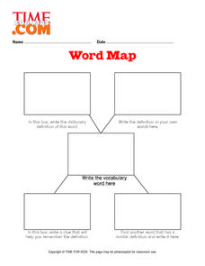 Word Map Graphic Organizer Lesson Plan